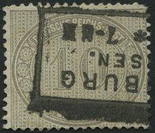 Dt. Reich 12 O, 1872, 10 Gr. Hellgraubraun, R3 WALDENBURG I/SACHSEN, Rechts Kleiner Zahnfehler Sonst Farbfrisch Pracht,  - Deutschland