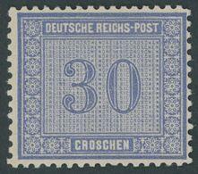 Dt. Reich 13 *, 1872, 30 Gr. Ultramarin, Falzrest, Kabinett, Signiert Flemming, Mi. 140.- - Deutschland