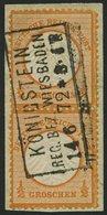 Dt. Reich 14 Paar BrfStk, 1872, 1/2 Gr. Orange Im Senkrechten Paar, R3 KÖNIGSTEIN REG. BEZ. WIESBADEN, Normale Zähnung,  - Deutschland