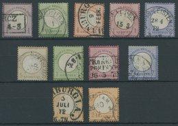 11 Werte Kleiner Brustschild (Mi.Nr. 1-7,9/10,14/5), Feinst/Pracht, Mi. 900.- -> Automatically Generated Translation: 11 - Deutschland