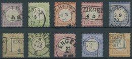 10 Werte Kleiner Brustschild (Mi.Nr. 1-7,9/10,14), Feinst/Pracht, Mi. 650.- -> Automatically Generated Translation: 10 V - Deutschland