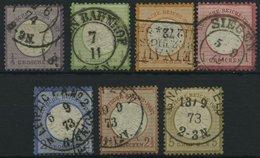 Dt. Reich 16-22 O, 1872, 1/4 - 5 Gr. Große Brustschilde, 7 Prachtwerte, Mi. 319.- - Deutschland