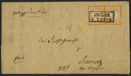 Dt. Reich 18IV BRIEF, 1872, 1/2 Gr. Orange Im Waagerechten Paar, Linke Marke Mit Plattenfehler Farbfeck Unter H, Mit Zen - Deutschland