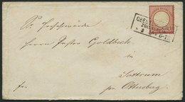 Dt. Reich 19 BRIEF, 1875, 1 Gr. Rotkarmin (als 10 Pf.-Marke Verwendet), R3 GEESTEMÜNDE ZOLLVEREIN, üblich Gezähnt, Prach - Deutschland