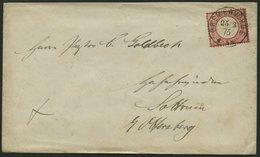 Dt. Reich 19XXXV BRIEF, 25.3.1875, 1 Gr. Rotkarmin (als 10 Pf.-Marke Verwendet) Mit Plattenfehler Punkt über E, Zentrisc - Deutschland