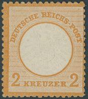 Dt. Reich 24 *, 1872, 2 Kr. Orange, Falzreste, Farbfrisch Pracht, Fotoattest Sommer, Mi. 650.- - Gebraucht