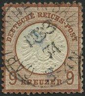 Dt. Reich 27b O, 1872, 9 Kr. Lilabraun, Repariert Wie Pracht, Fotobefund Brugger, Mi. (650.-) - Gebraucht