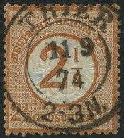 Dt. Reich 29 O, 1874, 21/2 Auf 21/2 Gr. Braunorange, Idealer Zentrischer K2 TRIER, Normale Zähnung, Pracht - Gebraucht