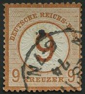 Dt. Reich 30 O, 1874, 9 Auf 9 Kr. Braunorange, Normale Zähnung, Pracht, Mi. 600.- - Deutschland