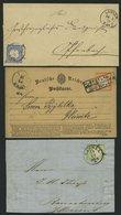 Dt. Reich BrfStk , 1871/3, 5 Verschiedene Belege, Dabei Mi.Nr. 10 Als Einzelfrankatur, Feinst - Gebraucht
