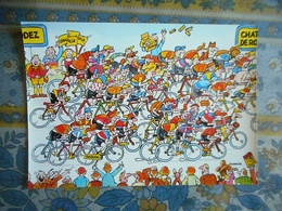 CPM TOUR DE FRANCE 1984 14 EME ETAPE  RODEZ DOMAINE DU CHATEAU DE ROURET  Pub BANANIA - Cyclisme