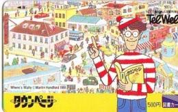 Télécarte Japon - WHERE'S WALLY ? (9) -  COMICS Japan Phonecard Telefonkarte - BD