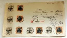 1918 Germania Belgien Brief Gelaufen Mi DR-BE 10 17 Sn BE N10 17 Yt BE-OA 10 17 AFA DR-BE 10 17 Bel BE-OC 10 17 - Occupation 1914-18