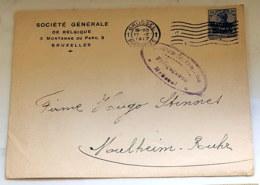 1918 Germania Belgien Brief Gelaufen Mi DR-BE 18 - Occupation 1914-18