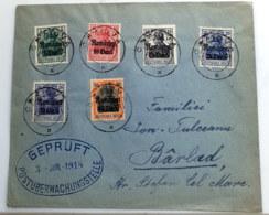 1918 Germania Rumänien Brief Gelaufen Mi DR-RUM 8 - 12 Sn RO 3N8 - 12 Yt RO OA26  - 30 AFA DR-RUM 8 - 12 - Besetzungen 1914-18