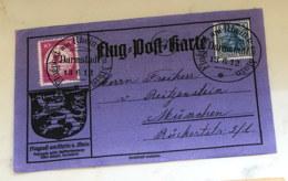 1912 Juni Luftpost Am Rhein Flugpostkarte  Mi DR I - Luftpost