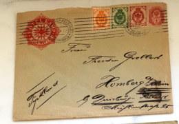 1902 - 04 Freimarken Mi RU 40y Sn RU 57C Yt RU 41(B) Mi RU 45 - 47 Sn RU 55 - 57 Auf Brief Gelaufen - 1857-1916 Imperium
