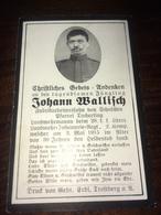Sterbebild Wk1 Ww1 Bidprentje Avis Décès Deathcard KUK LIR28 3. Mai 1915 Aus Schlachen Tacherting - 1914-18