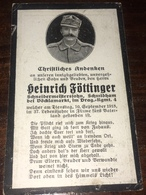 Sterbebild Wk1 Ww1 Bidprentje Avis Décès Deathcard KUK Dragoner Regiment 4 FIUME 10. September 1918 Aus Schmidham - 1914-18