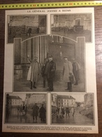DOCUMENT GUERRE 14/18 LE GENERAL JOFFRE A REIMS CATHEDRALE - Old Paper