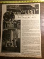 DOCUMENT GUERRE 14/18 LA FOIRE DE LYON - Old Paper