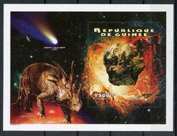Guinee 1995 Prehistory Prehistoire Dinosaurs Dinosaures Météorites MNH - Prehistory