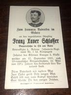 Sterbebild Wk1 Ww1 Bidprentje Avis Décès Deathcard RIR1 17. September 1915 Aus Öd Am Rain - 1914-18