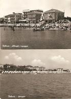 Bellaria : Alberghi E Spiaggia --- 2 Cards - Italie