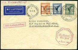KATAPULTPOST 5b BRIEF, 9.9.1929, &quot,Bremen&quot, - Bremen, Seepostaufgabe, Brief Feinst - Briefe U. Dokumente