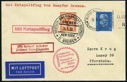 KATAPULTPOST 13c BRIEF, 25.5.1930, &quot,Bremen&quot, - Southampton, Deutsche Seepostaufgabe, Prachtbrief - Briefe U. Dokumente