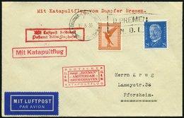 KATAPULTPOST 15c BRIEF, 16.6.1930, &quot,Bremen&quot, - Bremerhaven, Deutsche Seepostaufgabe, Prachtbrief - Briefe U. Dokumente