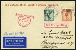 KATAPULTPOST 16b BRIEF, 25.6.1930, &quot,Bremen&quot, - New York, Seepostaufgabe, Drucksache, Prachtbrief - Briefe U. Dokumente