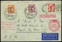 KATAPULTPOST 23c BRIEF, 25.8.1930, &quot,Bremen&quot, - Southampton, Deutsche Seepostaufgabe, Brief Feinst - Briefe U. Dokumente