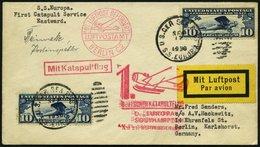 KATAPULTPOST 32b BRIEF, 22.9.1930, &quot,Europa&quot, - Southampton, US-Seepostaufgabe, Prachtbrief - Briefe U. Dokumente