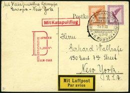 KATAPULTPOST 35b BRIEF, 1.10.1930, &quot,Europa&quot, - New York, Seepostaufgabe, Prachtkarte - Briefe U. Dokumente