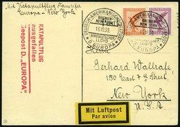 KATAPULTPOST 38c BRIEF, 16.10.1930, Europa - Flug Ausgefallen, Nachbringeflug Und Ausfallstempel, Prachtkarte - Briefe U. Dokumente