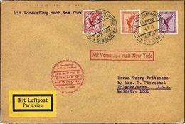 KATAPULTPOST 40b BRIEF, 10.5.1931, Bremen - New York, Seepostaufgabe, Prachtbrief - Briefe U. Dokumente