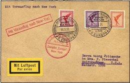 KATAPULTPOST 41b BRIEF, 16.5.1931, Europa - New York, Seepostaufgabe, Prachtbrief - Briefe U. Dokumente