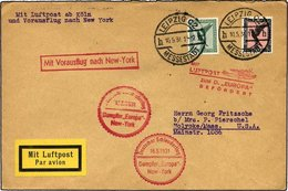KATAPULTPOST 41c BRIEF, 16.5.1931, Europa - New York, Nachbringe- Und Schleuderflug, Prachtbrief - Briefe U. Dokumente