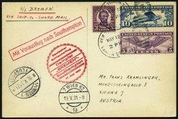 KATAPULTPOST 42a BRIEF, 17.5.1931, &quot,Bremen&quot, - Southampton, US-Landpostaufgabe, Prachtkarte - Briefe U. Dokumente