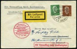 KATAPULTPOST 42c BRIEF, 17.5.1931, &quot,Bremen&quot, - Southampton, Deutsche Seepostaufgabe, Drucksache, Prachtbrief - Briefe U. Dokumente