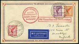 KATAPULTPOST 43c BRIEF, 24.5.1931, &quot,Europa&quot, - Southampton, Deutsche Seepostaufgabe, Prachtbrief - Briefe U. Dokumente