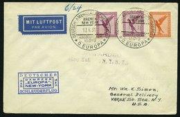 KATAPULTPOST 50b BRIEF, 18.6.1931, Europa - New York, Seepostaufgabe, Prachtbrief - Briefe U. Dokumente