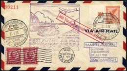 KATAPULTPOST 60bc BRIEF, Inneramtlicher Erstflug Bismarck-Nord Dakota Und Anschließender Schleuderflug, Prachtbrief, RR! - Briefe U. Dokumente