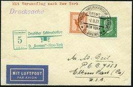 KATAPULTPOST 68b BRIEF, 4.9.1931, &quot,Bremen&quot, - New York, Seepostaufgabe, Drucksache, Prachtbrief - Briefe U. Dokumente