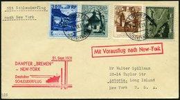 KATAPULTPOST 72Li BRIEF, Liechenstein: 1.9.1931, Bremen - New York, Prachtbrief, RR! - Briefe U. Dokumente