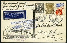 KATAPULTPOST 79Nl BRIEF, Niederlande: 18.5.1932, &quot,Bremen&quot, - New York, Prachtkarte - Briefe U. Dokumente