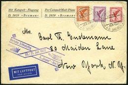 KATAPULTPOST 87b BRIEF, 20.6.1932, &quot,Bremen&quot, - New York, Seepostaufgabe, Brief Feinst - Briefe U. Dokumente