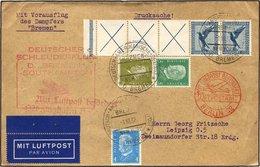 KATAPULTPOST 112c BRIEF, 5.10.1932, Bremen - Southampton, Deutsche Seepostaufgabe, Frankiert U.a. Mit RL 15b, Drucksache - Briefe U. Dokumente
