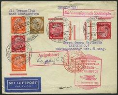 KATAPULTPOST 144c BRIEF, 21.9.1933, Bremen - Southampton, Deutsche Seepostaufgabe, Frankiert Mit S 113 Und KZ 19, Drucks - Briefe U. Dokumente